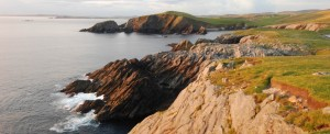 Photo: Whale Wick, with its cliffs and jagged rocks, is one example of Shetland's coastline
